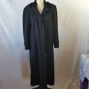 Jones New York Petites 100% Wool Maxi Coat w/Hood